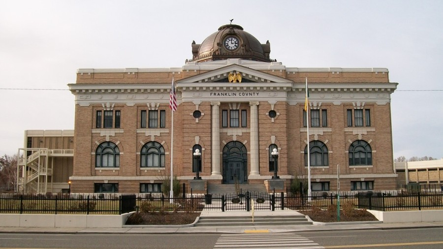 The Franklin County Courthouse is a historic landmark in Pasco, WA.