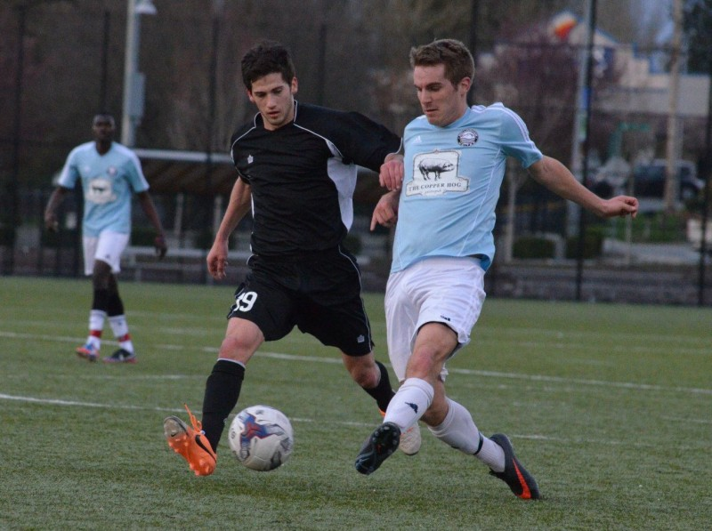 Bellingham United (right) played Seattle Sporting on March 30, 2014.)