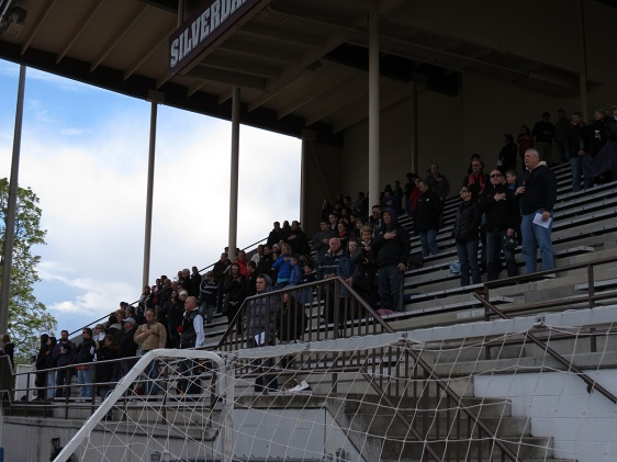 204 fans took in the WestSound FC home opener in windy, cool conditions with sun on the field.
