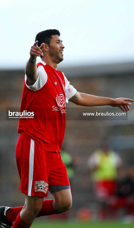 Hector Valdovinos celebrates another goal for YUFC. (Braulio Herrera)