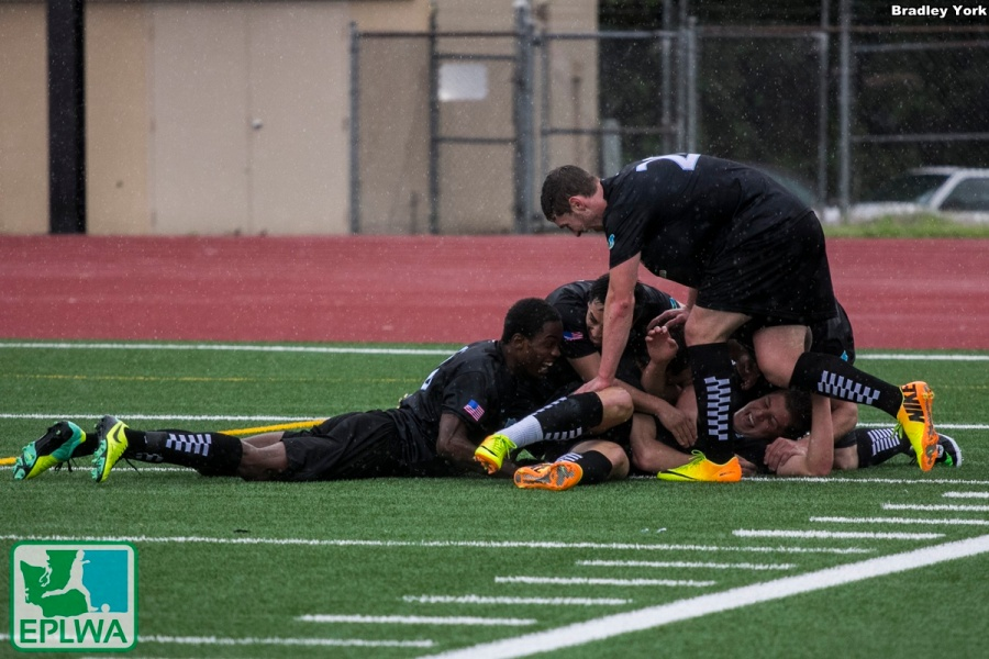 Highest highs: Vancouver scores late,late in stoppage time to beat Yakima 5-4. (Bradley York)