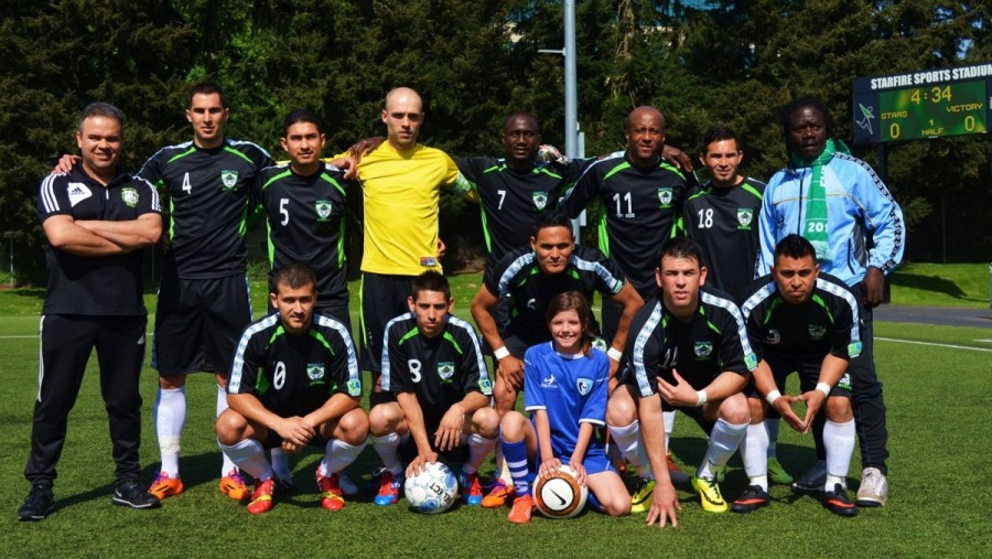 Seattle Stars FC starting eleven May 11 against Vancouver. (Stars Facebook)