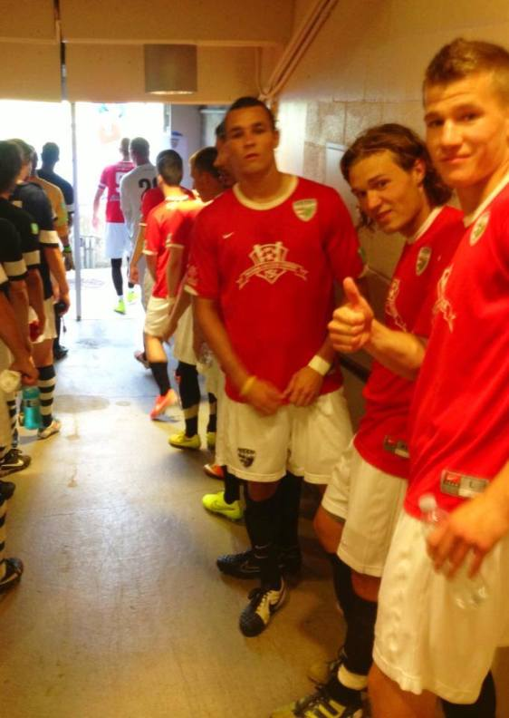 The Shock in the tunnel before the match. (South Sound FC photo)