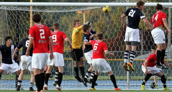 On Saturday Andrew Glaeser became the second goalkeeper to record back-to-back shut outs in the EPLWA. (Erik Smith)