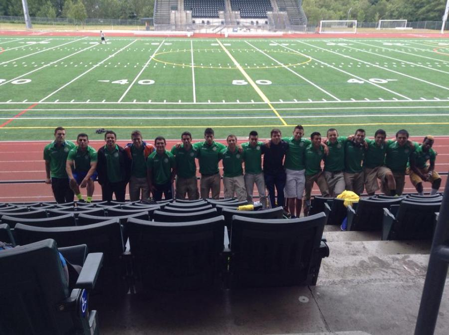 Wenatchee checks out Civic Stadium before the match. (Facebook)
