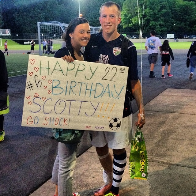 You write the script: On his birthday Scotty Hanson scored another match-winner for the Shock at Starfire Sports Stadium against Seattle. (Facebook photo)