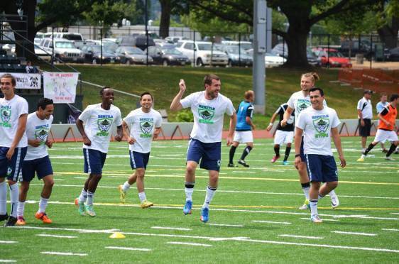 The Stars were in a good mood before the match on July 12 in Bellingham. (Facebook)