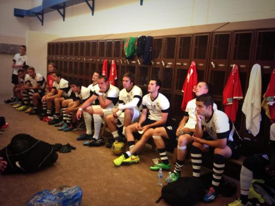 South Sound in the locker room before Sunday's big win over V2FC. (SSFC Facebook)