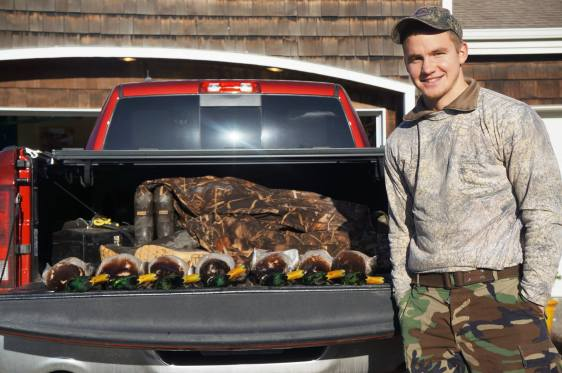 Andrew Glaeser enjoys the outdoors life, including hunting and fishing, when he's not playing soccer. (Facebook)