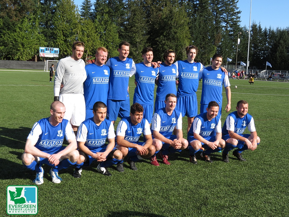 The Force has arrived, and they played great in Bremerton on Saturday April 4, winning twice (over Navy Select and Peninsula) and drawing with the pro Kitsap Pumas, who hosted the tournament. (David Falk)