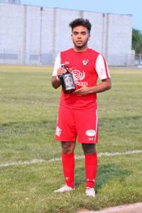 Jesse Esquivel was voted by fans as Hoppers Man of the Match earlier this season. (Tracie Fowler)