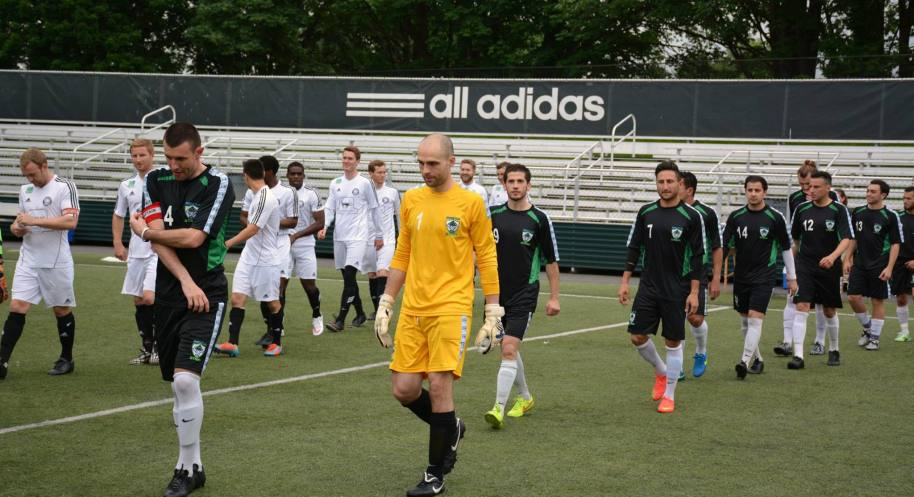 Taking the pitch: Seattle versus Bellingham at Starfire. (Stars photo)