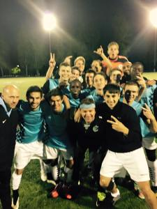 Happy to be at the top: V2FC players celebrate their big win in Spokane. (Cory Ellis)