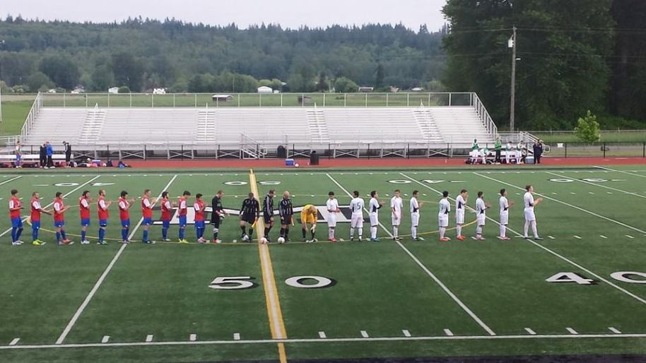 The Force (at left) line up with the Stars at Quil Ceda Stadium in Marysville. It would become the site of the first Olympic win in the EPLWA. (Force Facebook)