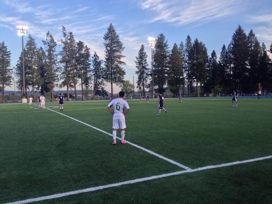 Kick off between Spokane and Seattle at Spokane Falls CC Stadium. (Shadow Facebook)