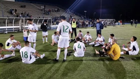 The Seattle Stars rest after they drew 1-1 on Saturday night in Spokane. (Stars Facebook)